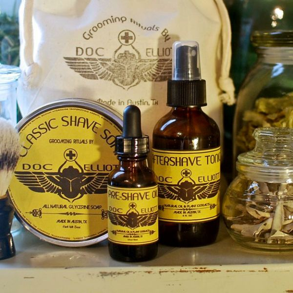 Beauty Made In America: Doc Elliott Grooming, Men's grooming with natural petroleum-free styling aids for hair, beard and stache