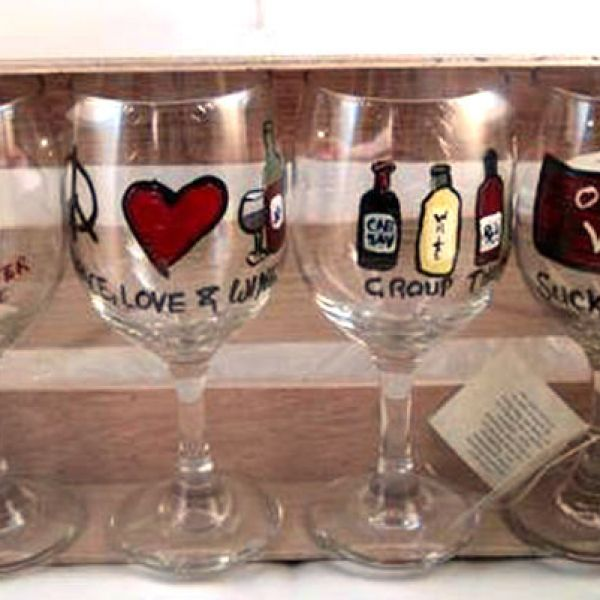 Home Made In America: Handcrafted by Janet, Hand-Painted Glassware