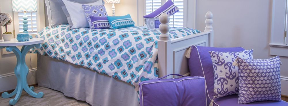 Home Made In America: LeighDeux, Upscale bedding, decor and accessories for home and dorm