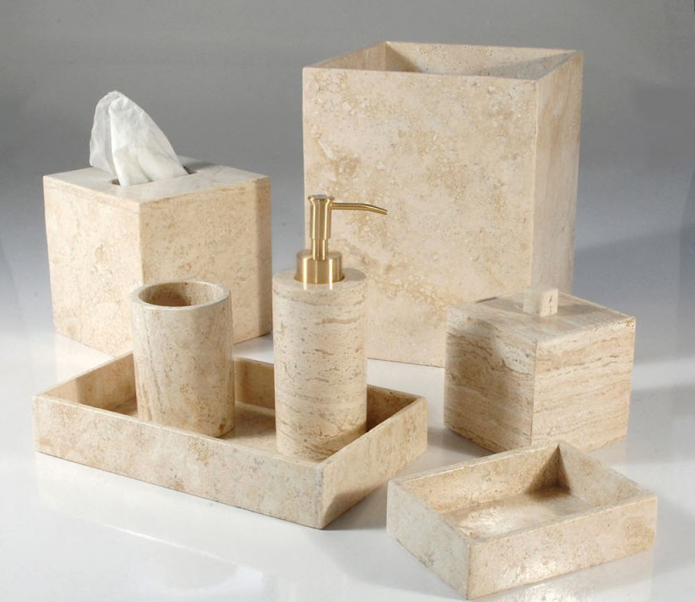 American made home for Marble bathroom accessories