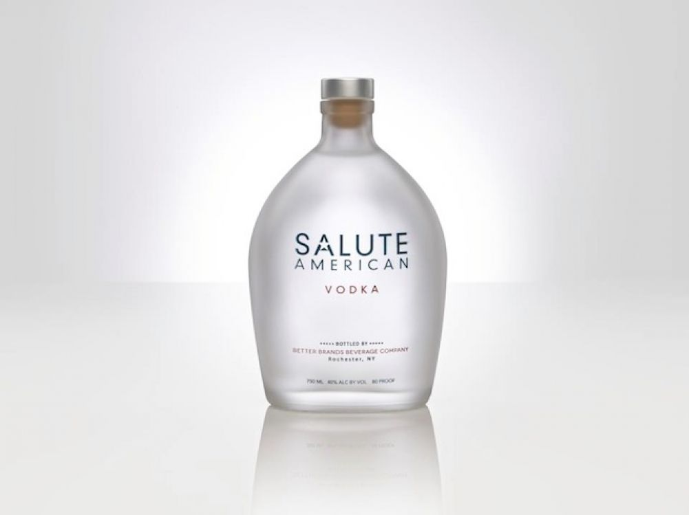 Food Made In America: Salute American, American-made Vodka with corn and wheat grains from the heartland.